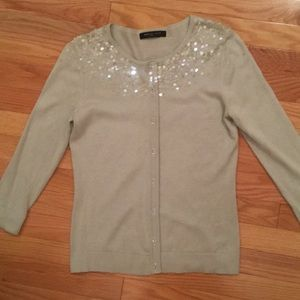 August Silk Sequin Cardigan